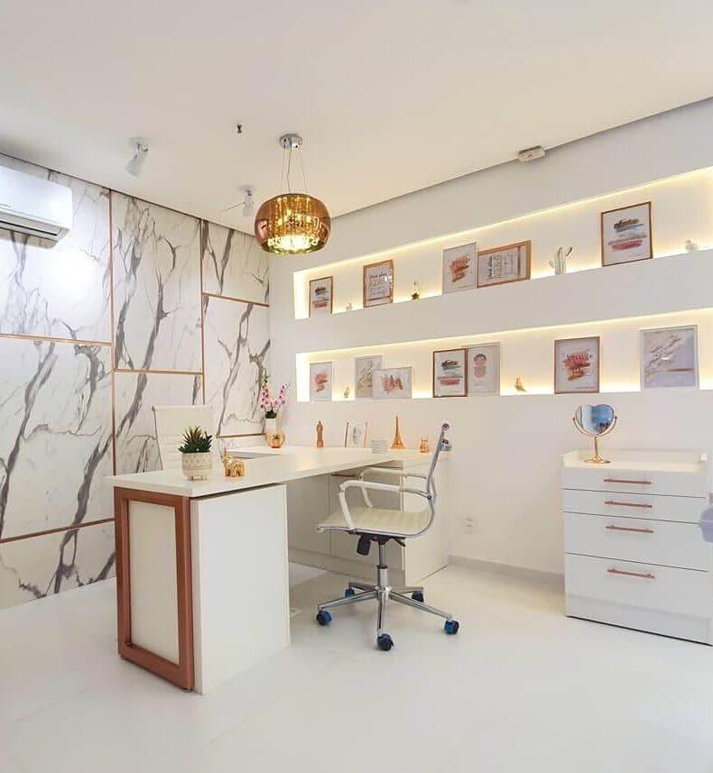 sala decorada dra julliana cunha oral face academy