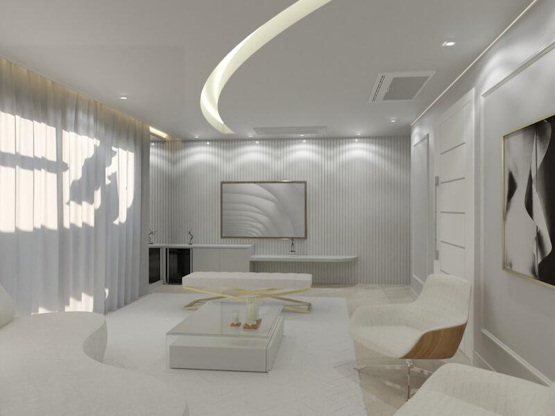 Sala de estar apartamento Mooca
