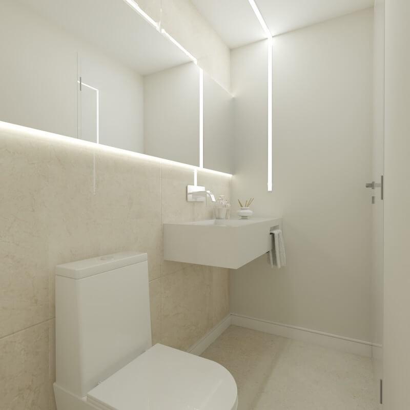 lavabo decorado aparamento mooca