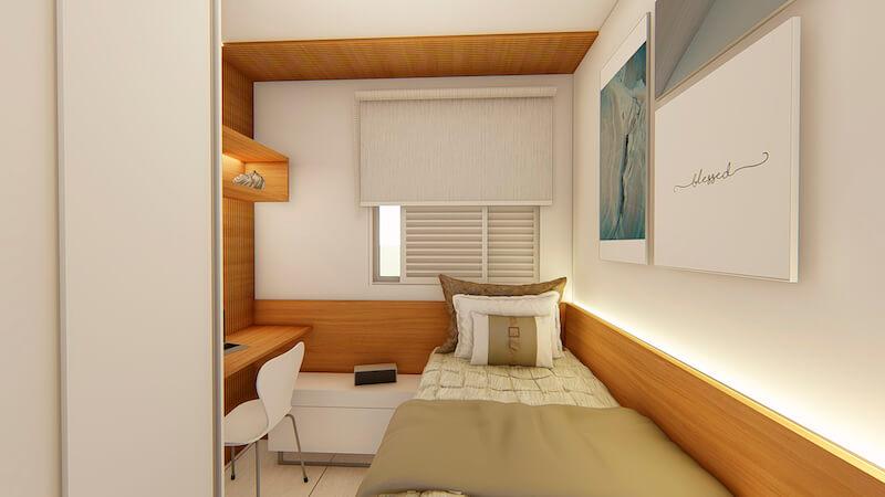 quarto de solteiro apartamento carrão