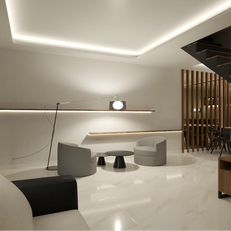 sala de estar casa santana