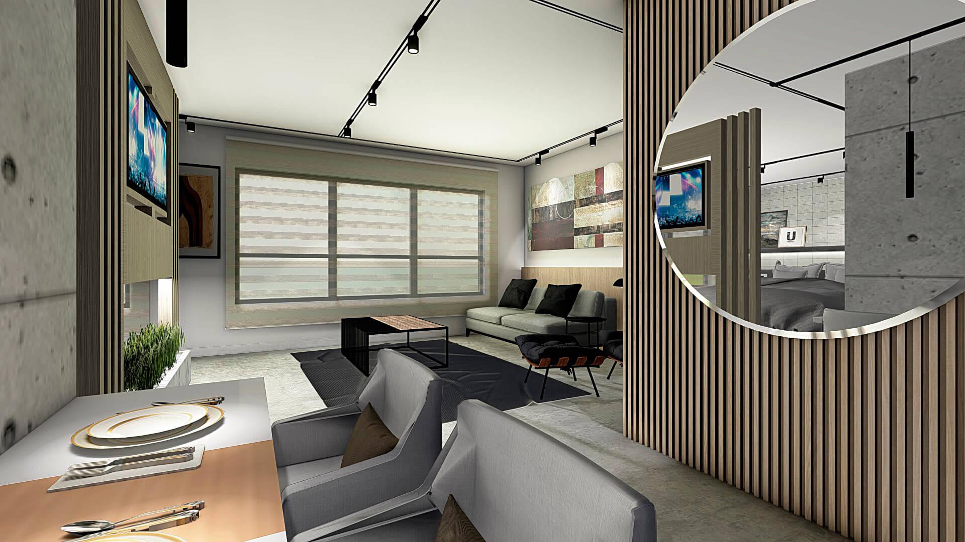 sala de tv apartamento max haus