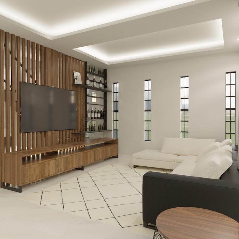 sala de tv com bar casa santana