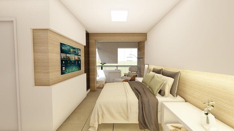 suite com varanda integrada apartamento carrão